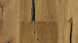 DENVER Räuchereiche Rustikal, 1-Stab, handgealtert, stark gebürstet, große Risse,